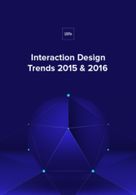 Interaction Design Trends 2015 & 2016